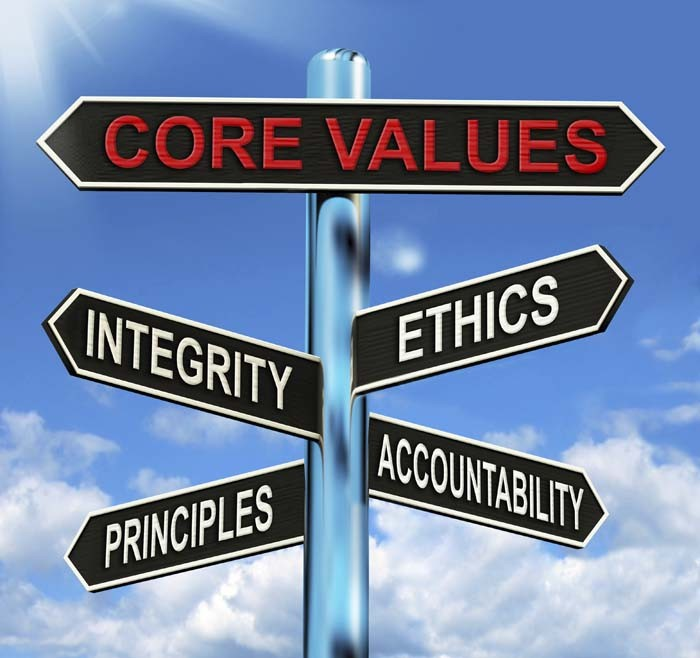 DO YOU HAVE CORE VALUES?